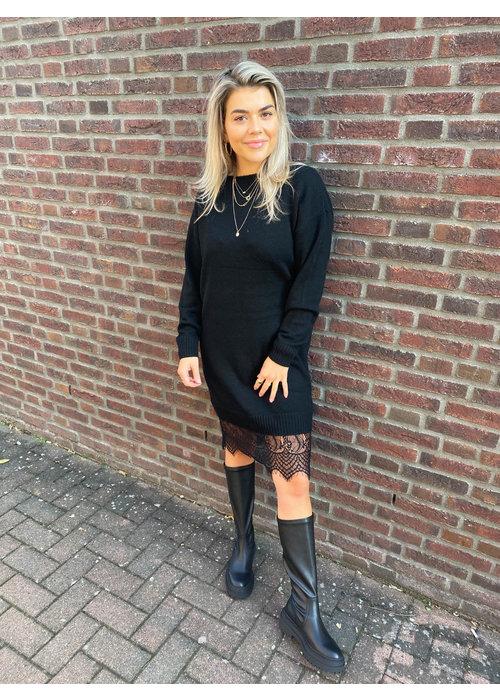 Freebird Freebird -  Ilsa Black Sweat Dress