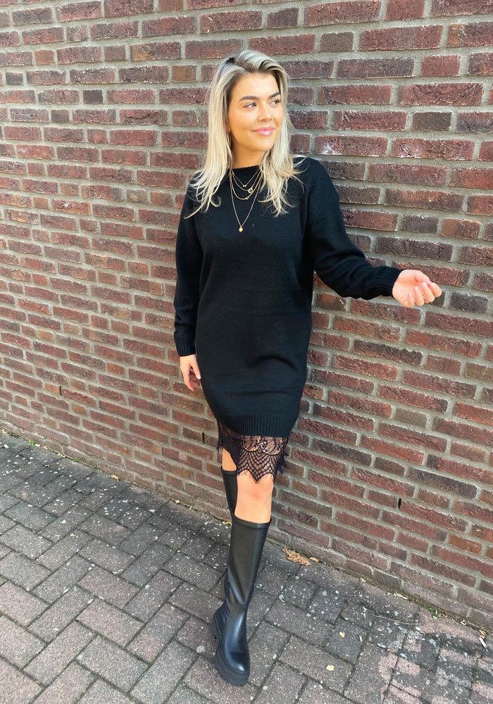 Freebird -  Ilsa Black Sweat Dress