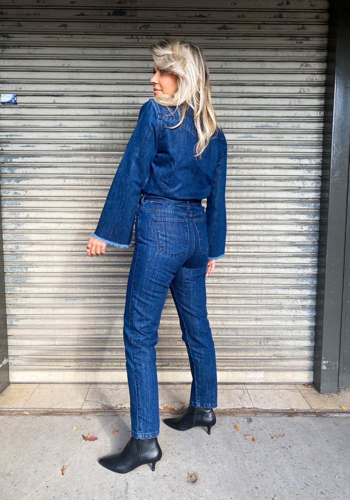 Homage - Denim Overall with frayed edge