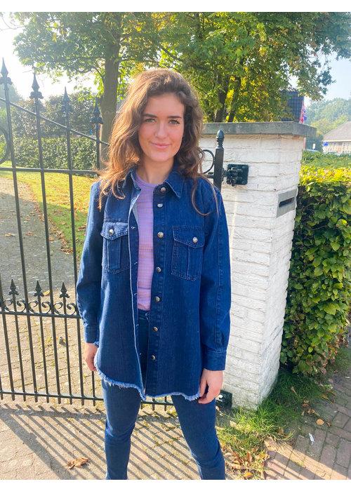 Homage Homage - Oversized Denim Jacket Frayed Edge