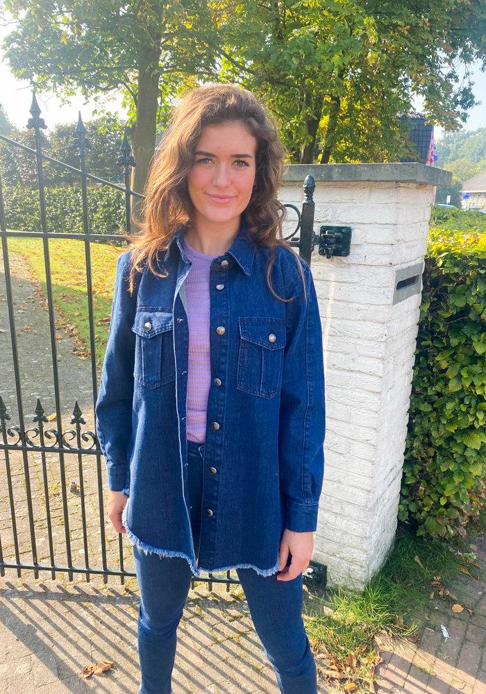 Homage - Oversized Denim Jacket Frayed Edge