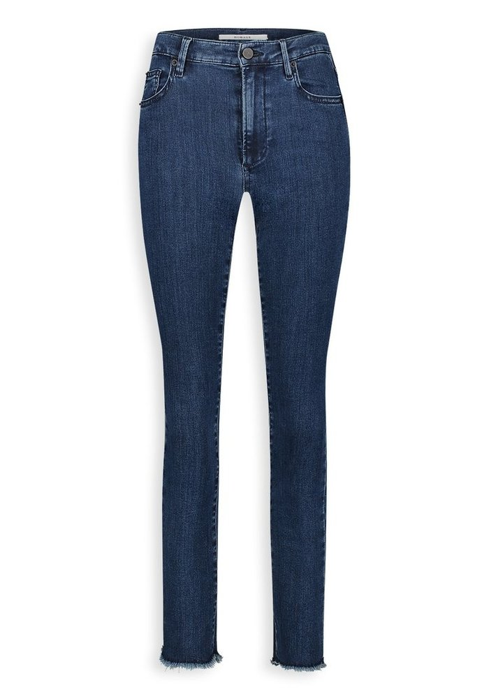 Homage - Brooke - Cropped Slim Jeans With Scalloped Edge - After Midnight