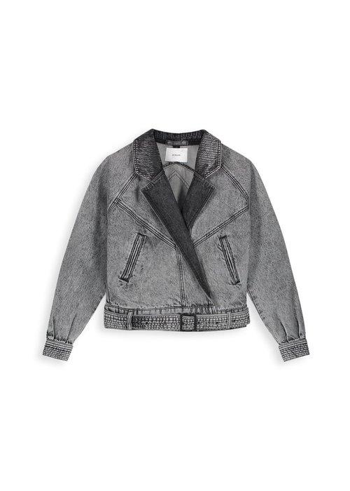 Homage Homage - Retro Denim Jacket Acid Light Grey