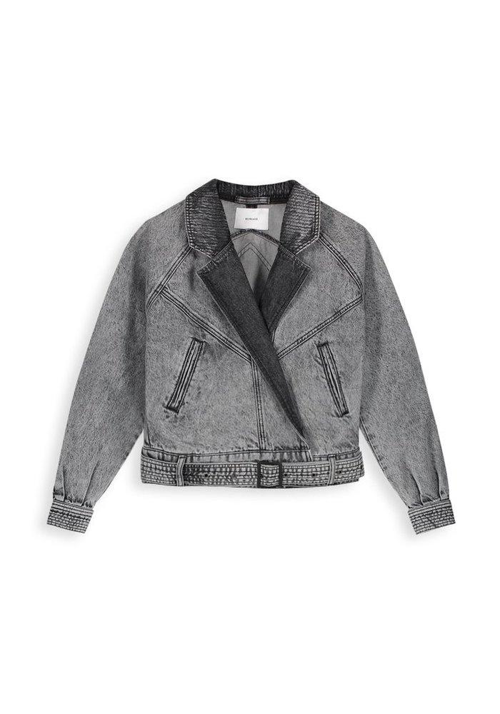 Homage - Retro Denim Jacket Acid Light Grey