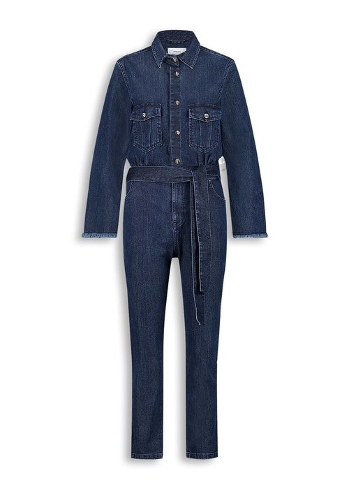 Homage Homage - Denim Overall with frayed edge