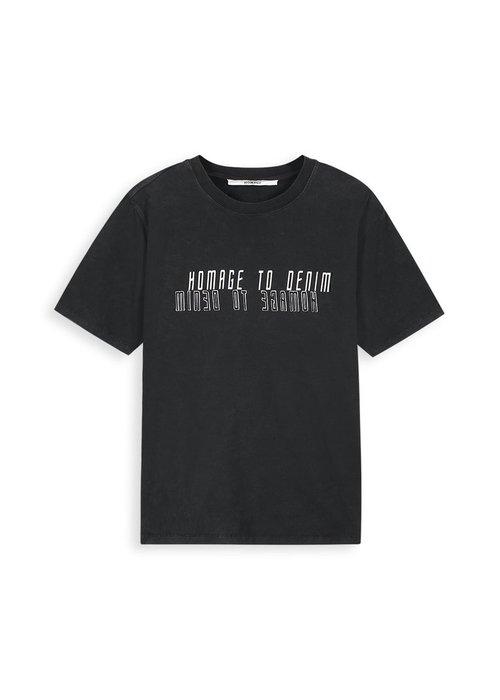 Homage Homage - Vintage Logo Tee Reflection Black + Antracite Garment Dye