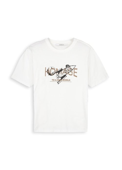 Homage Homage - Vintage Logo Tee New World White + Gold