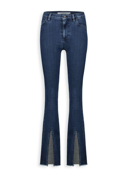 Homage Homage - Jane Flared Jeans with clean slits