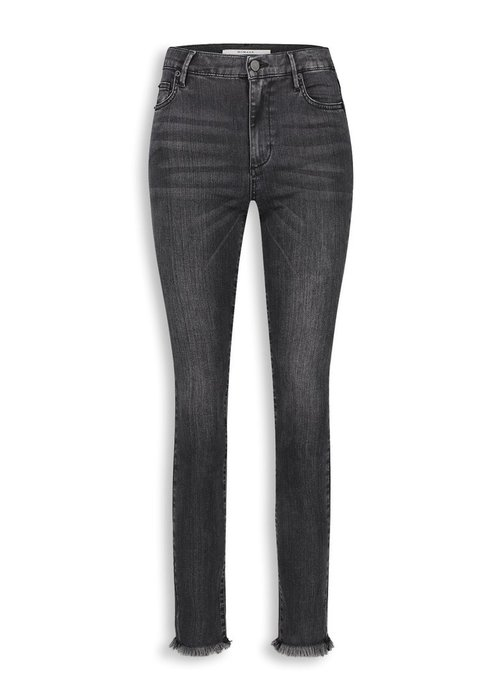 Homage Homage - Jane Flared Jeans With Frayed Hem Washed Black