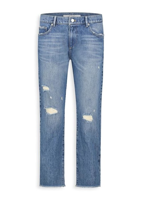 Homage Homage - Marilyn Non Stretch Straight Jeans Vintage Wash