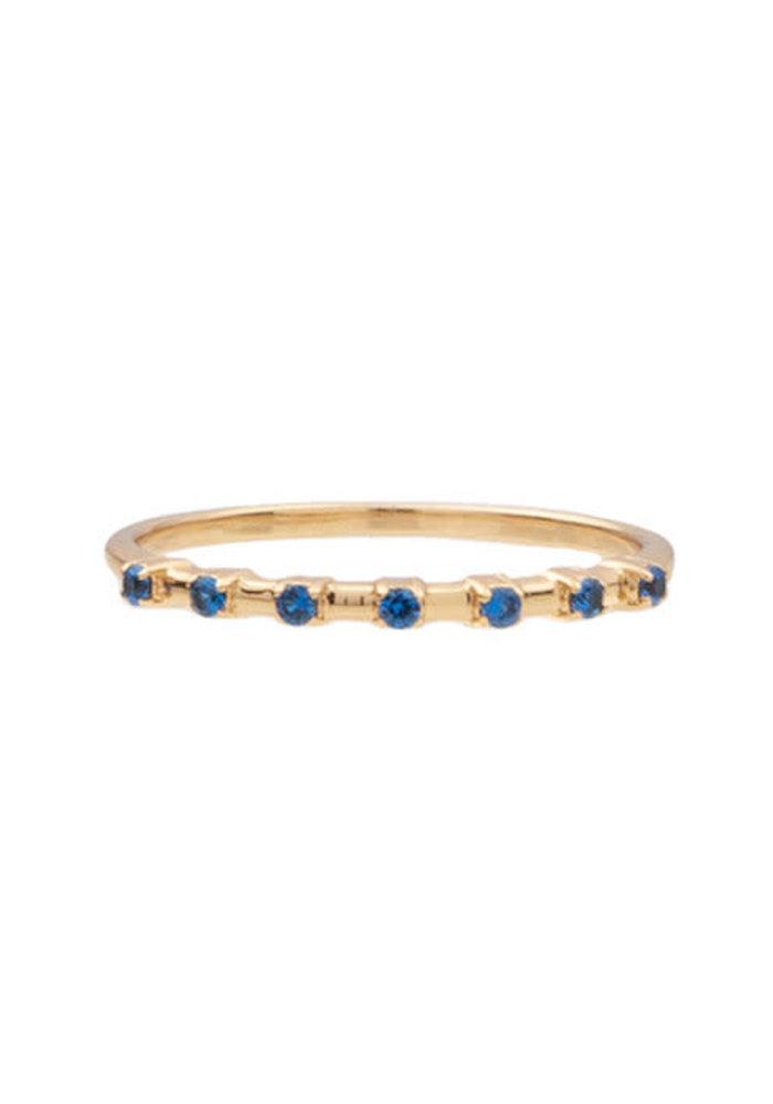 Alltheluck - RING DOTS BLUE GOLD