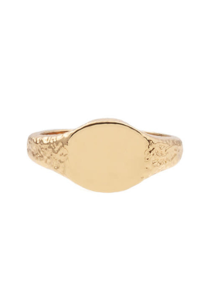 Alltheluck - RING SIGNET OVAL GOLD