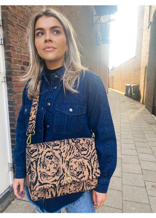 Alix Alix - Ladies Woven Big Tiger Boucle Schoulder Bag
