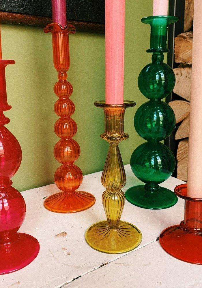 Anna + Nina - Southern Sun Orange Glass Candle Holder