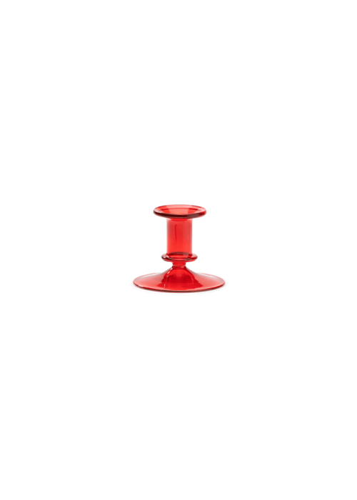 Anna + Nina - Rodeo Red Glass Candle Holder