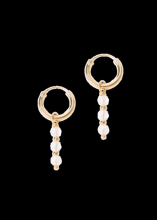 Le veer Le Veer-  Crystal Hoops Gold