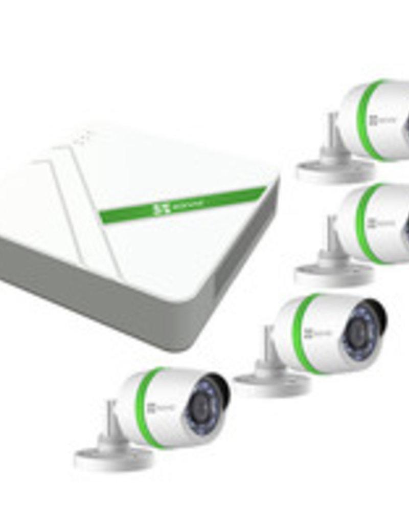 EZVIZ CS-BT4-EU Bedraad 4kanalen videotoezichtkit met 2 camera's
