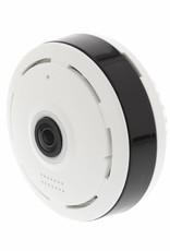 König HD IP-Camera 1280x960 Panorama Wit/Zwart