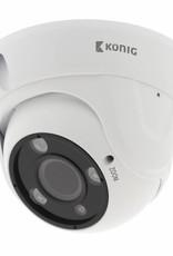 König Full HD Dome Beveiligingscamera Met Zoom IP66 Wit