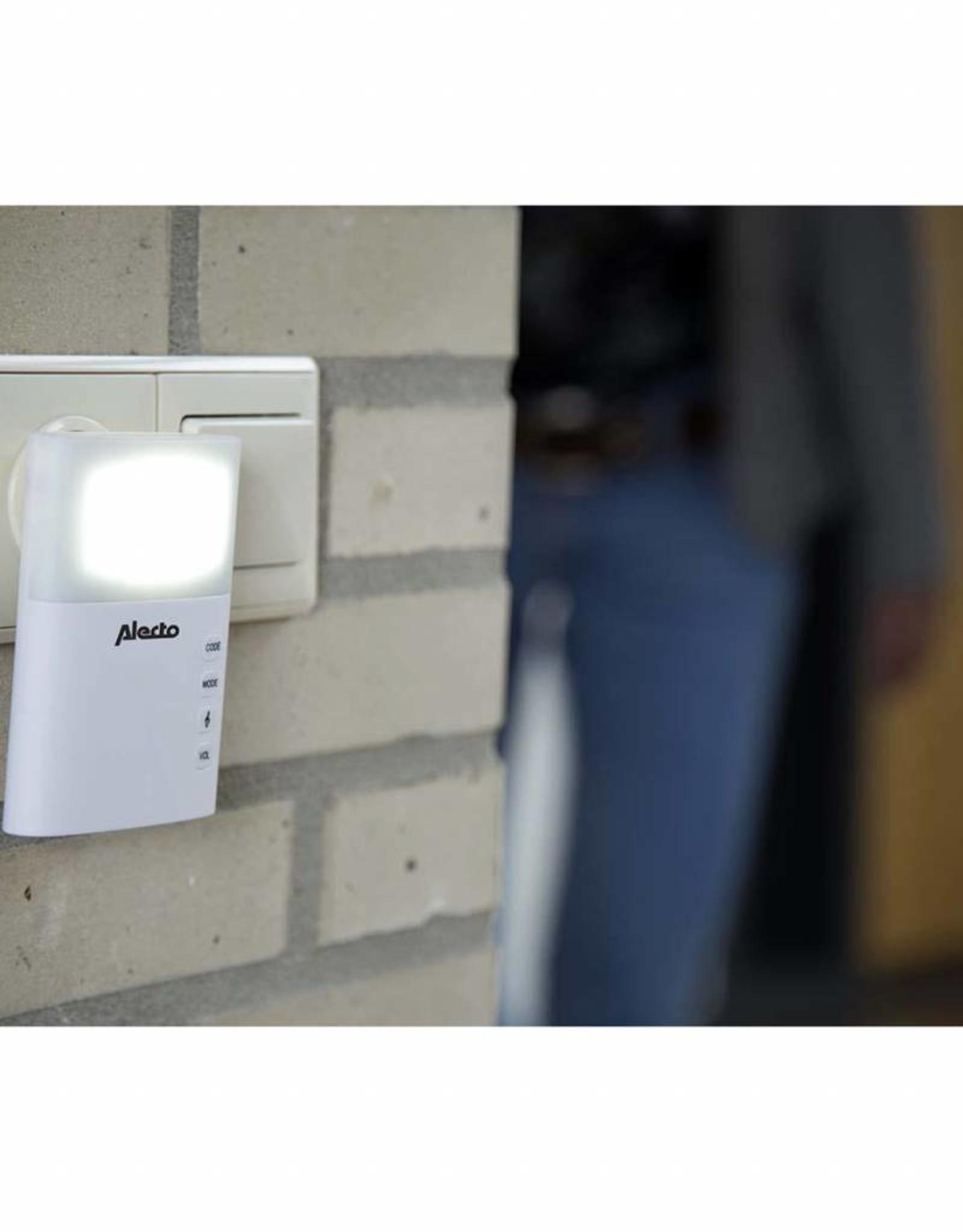 Alecto Plug-in Draadloze Deurbel Set 220V 36 Melodieën / LED-Indicator Met Flits