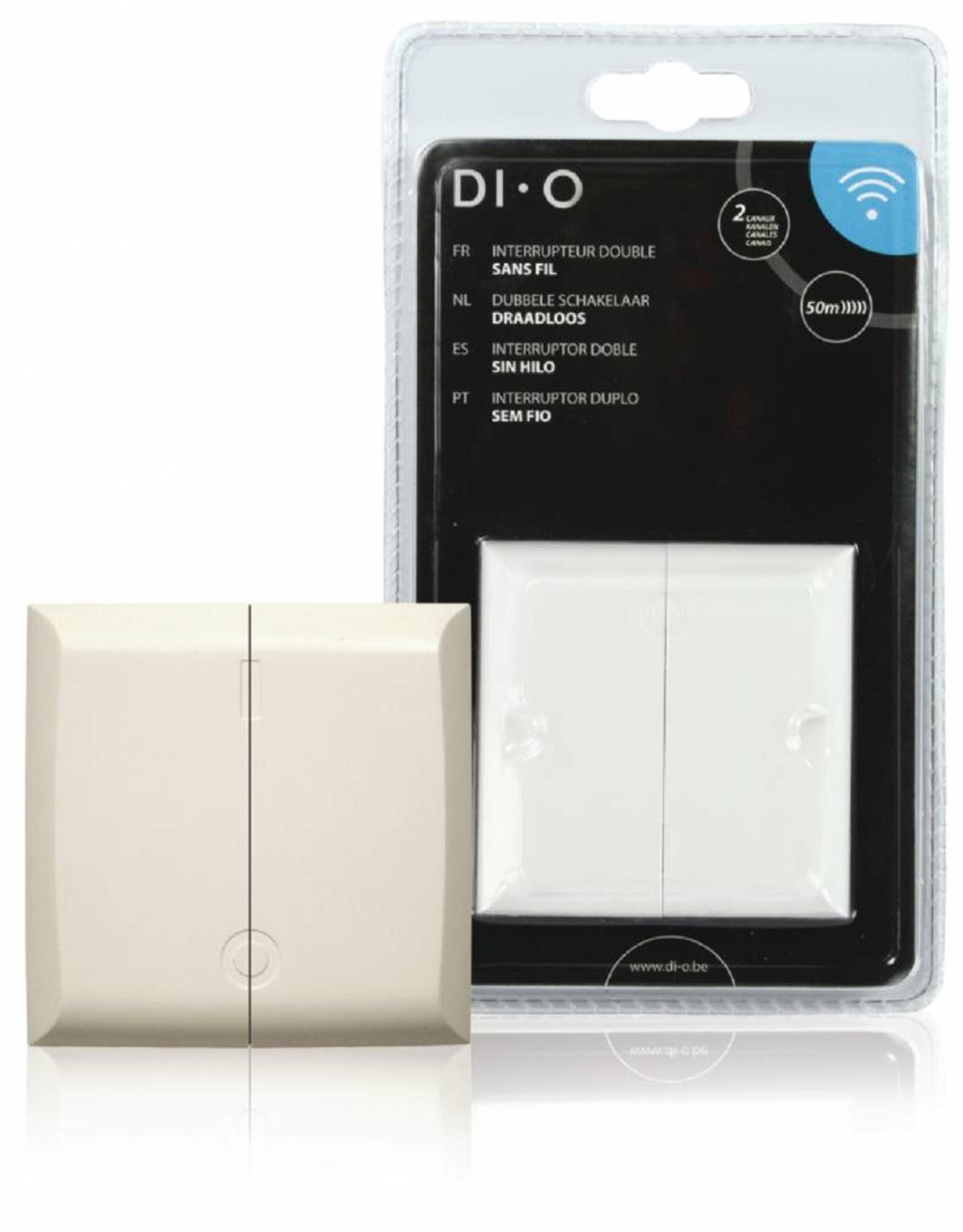 DI-O Smart Home Muurschakelaar - dubbel  433 MHz