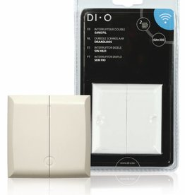 DI-O Smart Home Muurschakelaar - dubbel