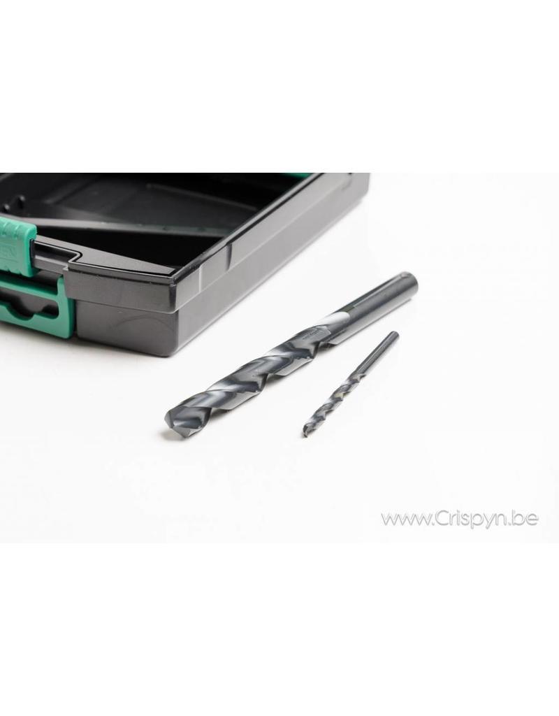 Phantom Pro HSS borenset 1 - 10 mm per 0.5 mm + voorboormaten M4 - M12
