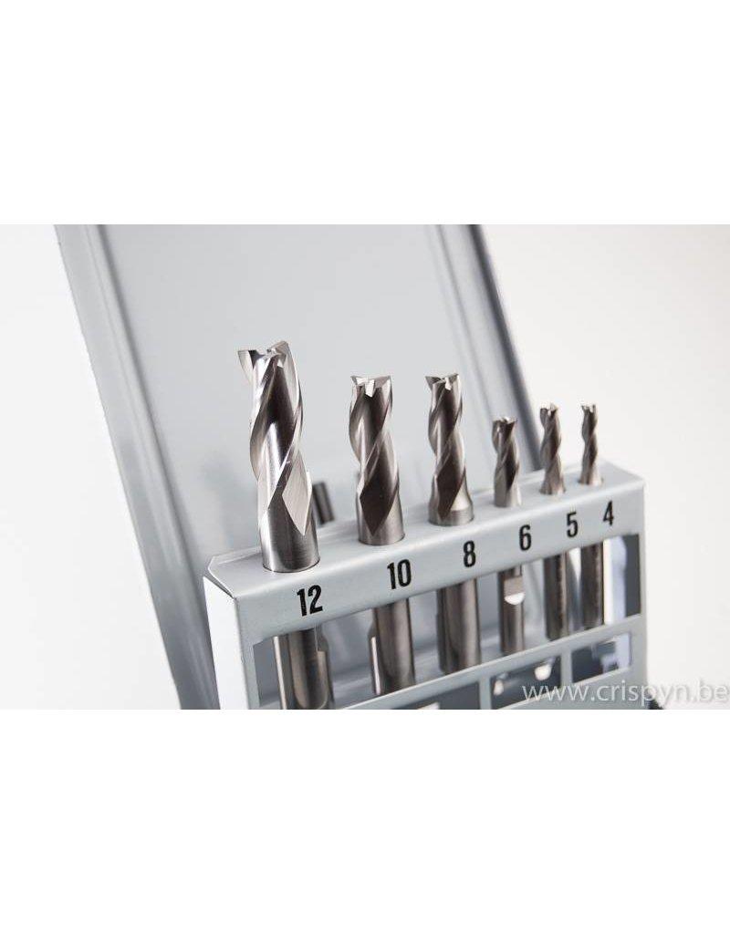Phantom HSS-Co universeelfrezen 4-12 mm (3-lippig)