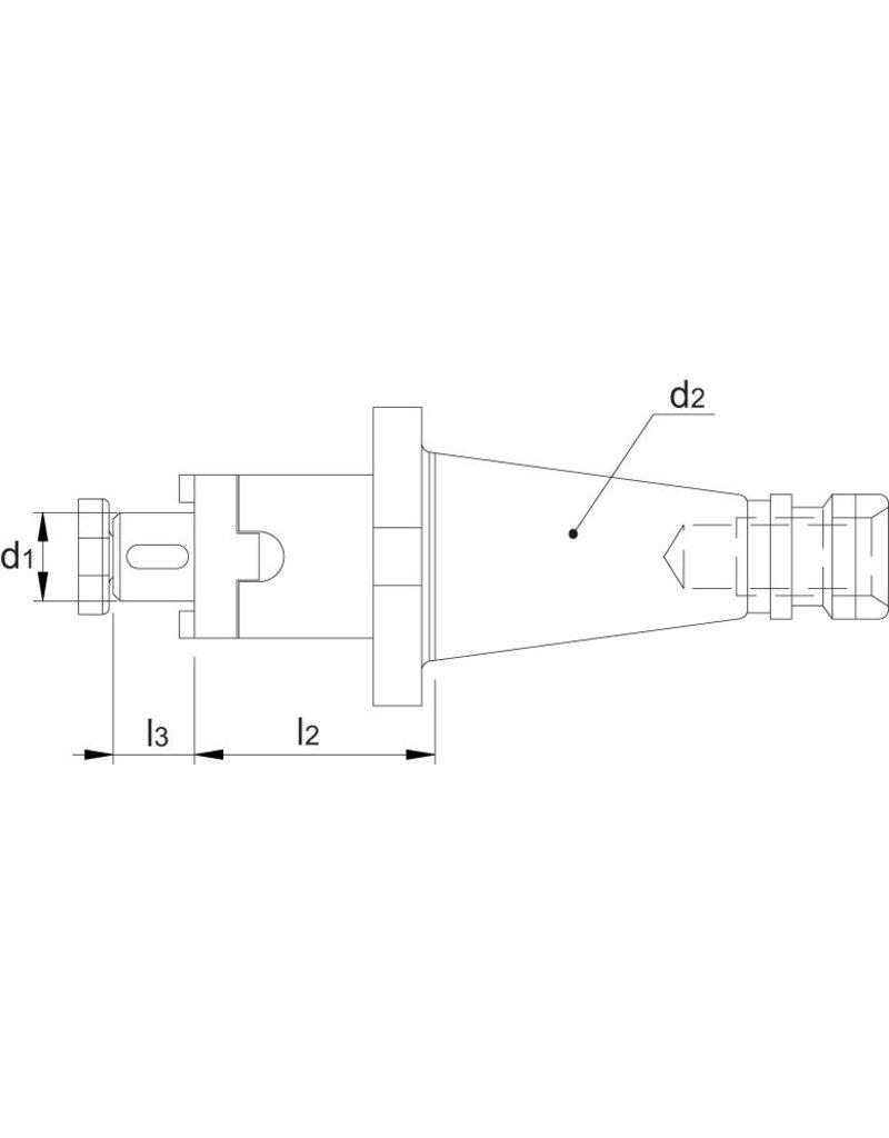 Phantom Opsteekfreeshouder SK40 - 16 mm