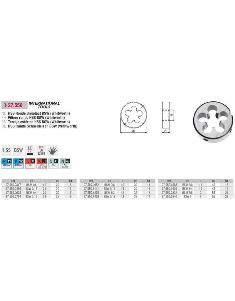 """International Tools Standaard snijplaat BSW 3/4""""-10"""