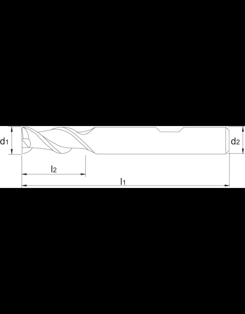 Phantom HSS-Co aluminiumfrees (2-lip) 20 MM