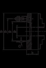 Phantom Bison klauwplaat - 315 mm C6 - Bajonet opname