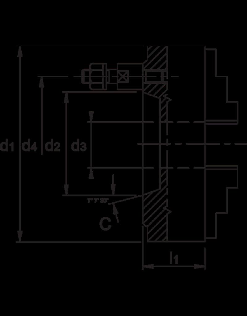Phantom Bison klauwplaat - 315 mm C8 - Bajonet opname