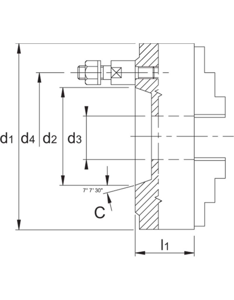Phantom Bison klauwplaat - 400 mm C11 - Bajonet opname