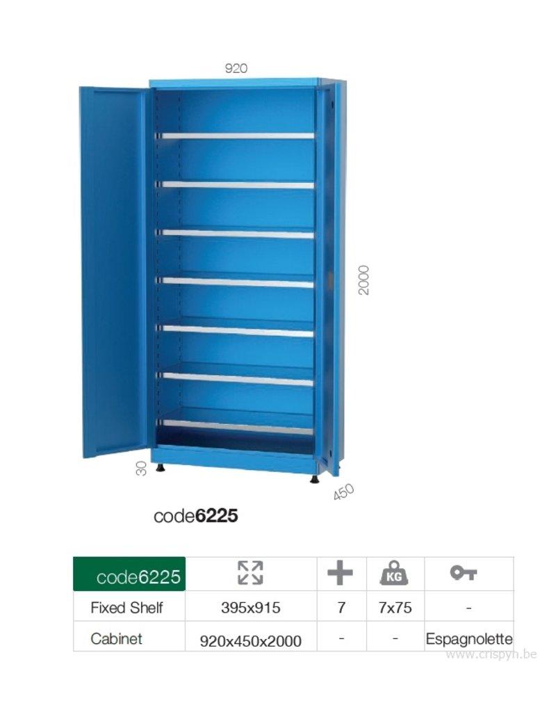 Kocel Materiaalkast 7 legborden 920x450x2030 MC