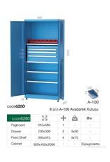 Kocel Materiaalkast 3D 920x450x2000 MC
