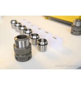 Diverse Uitbreidingsset 27 tot 32mm + houder voor GC 26 borenslijper