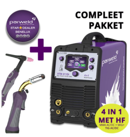 Parweld XTM 211Di 4 in 1  MMA, MIG DC , MIG AC hoogfrequent