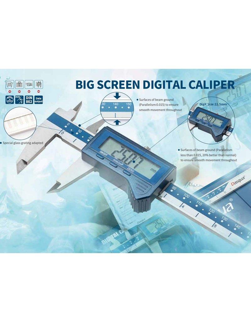 Dasqua Digitale schuimaat met groot display 0-300mm x0,01mm