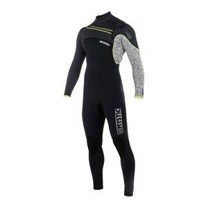 Mystic Drip Fullsuit 3/2 mm Frontzip wetsuit 2018 black/grey