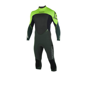 Mystic Mystic Longarm Shorty wetsuit  3/2  Backzip Flatlock Teal