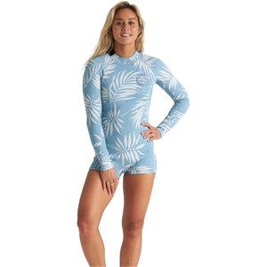 Billabong Billabong Women wetsuit shorty Backzip - Blue palms