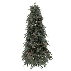 Abies Nordmann DELUXE Slim (smal) LED - Blauw - Triumph Tree kunstkerstboom