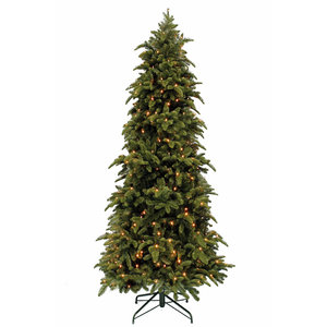 Abies Nordmann DELUXE Slim (smal) LED - Groen - Triumph Tree kunstkerstboom