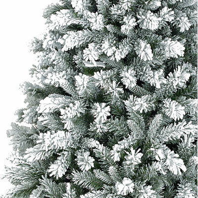 Chandler - Grün gefrorenes Weiß - BlackBox künstlicher Weihnachtsbaum