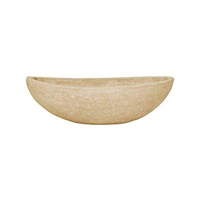 Polystone - Kunststof pot - Boat Natural - H 13cm