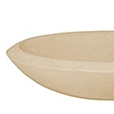 Polystone - Kunststof pot - Plate Natural - H 13cm