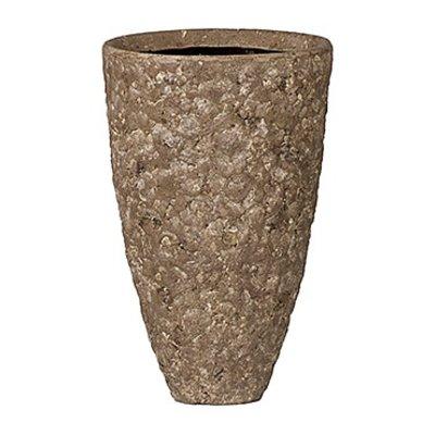 Polystone Rock - Kunststof pot - Rockstone Partner Grey Medium - H 27cm