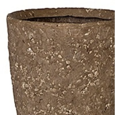 Polystone Rock - Kunststof pot - Rockstone Partner Grey Large - H 35cm