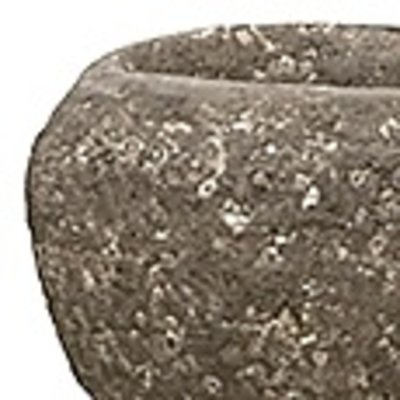 Polystone Rock - Kunststof pot - Findling Brown - H 15cm